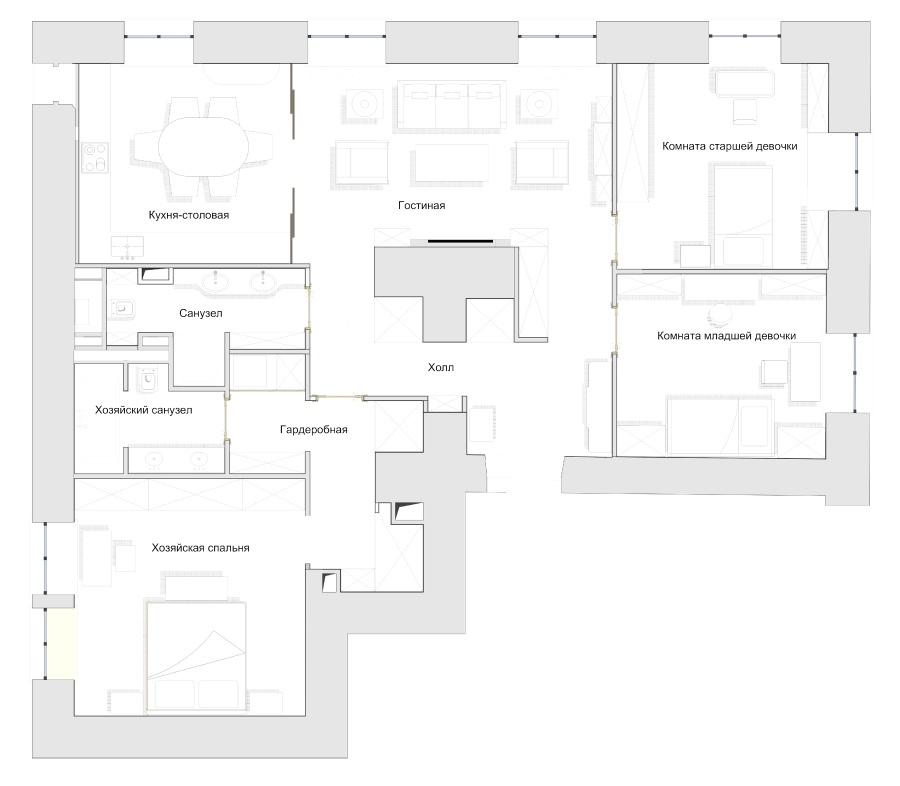 <strong>Квартира на Комсомольском проспекте<span><b>view larger</b></span></strong><i>→</i>
